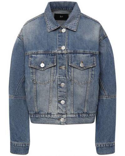Хлопковая синяя джинсовая куртка 3x1