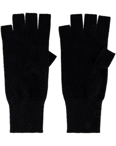 Z kaszmiru czarne rękawiczki bez palców Autumn Cashmere