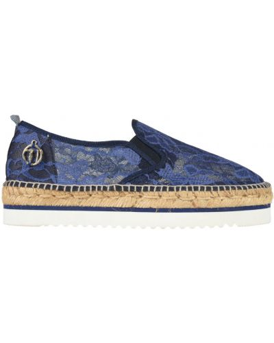 Эспадрильи на танкетке синий Trussardi Jeans