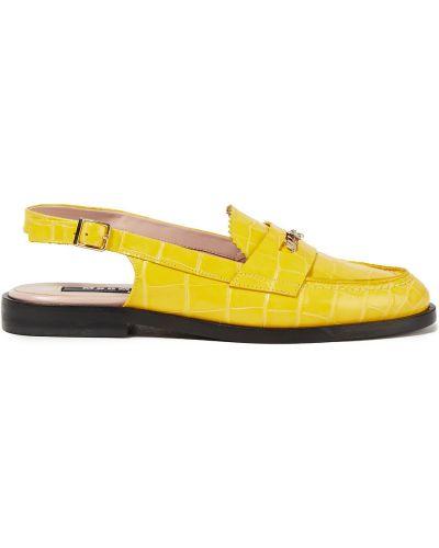 Żółte półbuty z klamrą Msgm