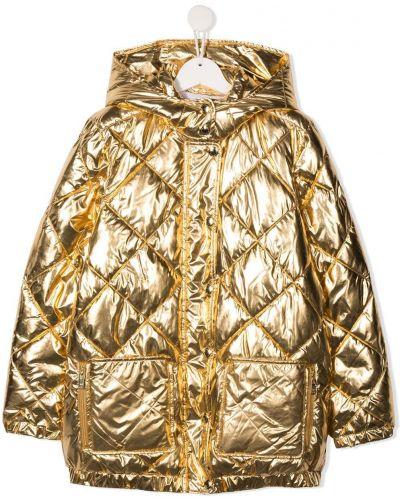 Желтое пальто классическое с капюшоном на кнопках Sonia Rykiel