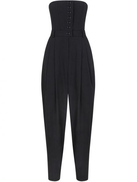 Шерстяной черный комбинезон без бретелек Dolce & Gabbana