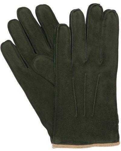 Zielone z kaszmiru rękawiczki Mario Portolano