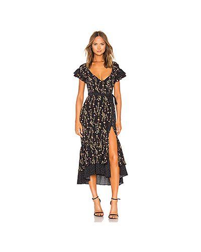 Платье с поясом шелковое с запахом Likely