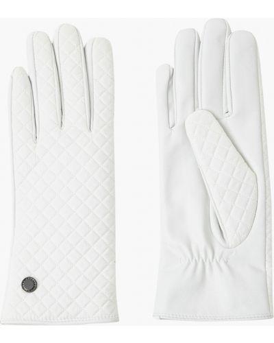 Шерстяные белые кожаные перчатки с подкладкой Finn Flare