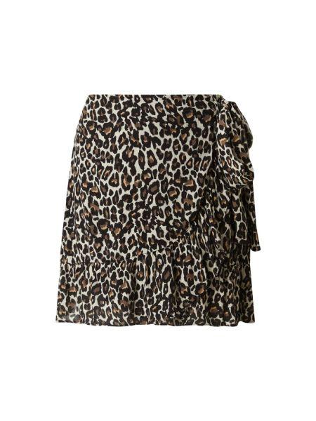 Beżowa spódnica z falbanami rozkloszowana Vero Moda