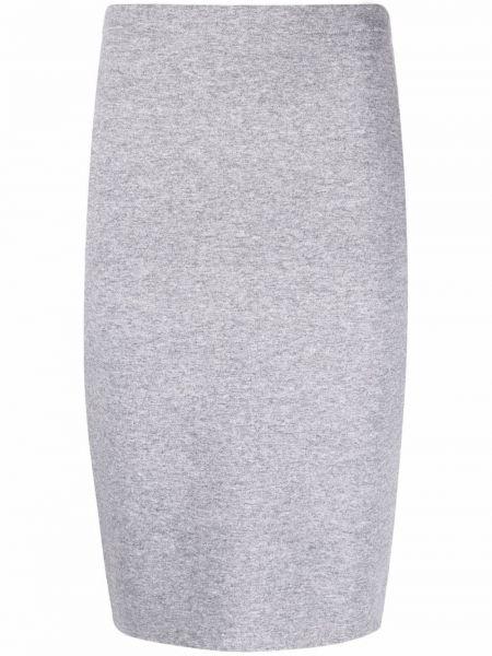 Шелковая юбка миди - серая D.exterior