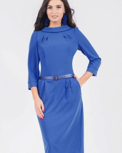 Платье миди осеннее синее Grey Cat