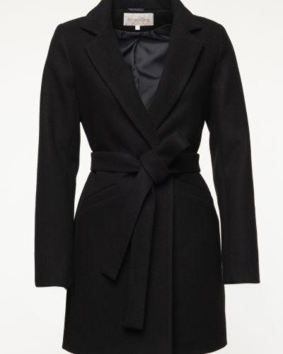 Шерстяное пальто - черное Serge Leoni