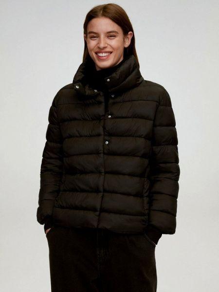 Теплая черная утепленная куртка Mango