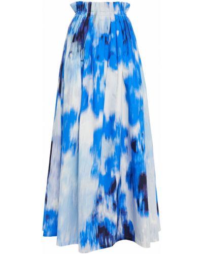 Niebieska spódnica maxi bawełniana Carolina Herrera