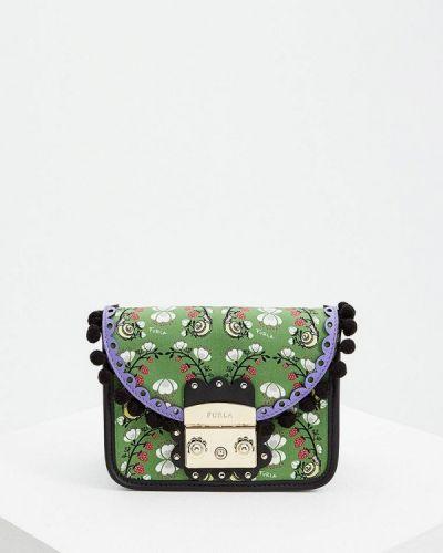 Зеленая сумка через плечо Furla