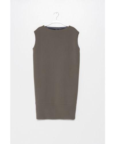Платье мини прямое с вырезом Simple