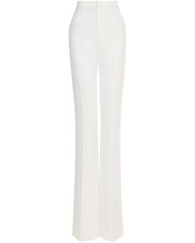 Белые расклешенные брюки из вискозы Dsquared2