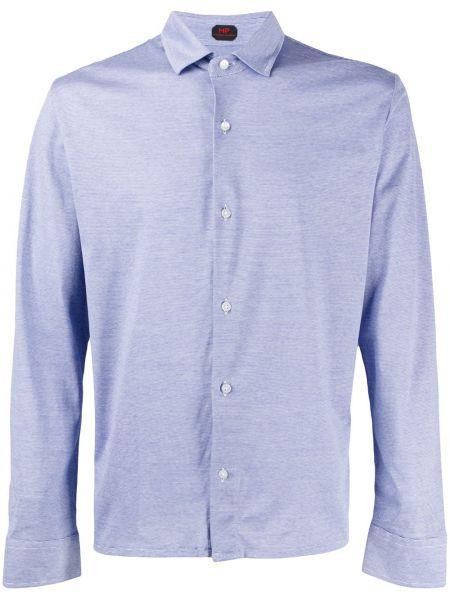 Niebieska klasyczna koszula bawełniana z długimi rękawami Mp Massimo Piombo