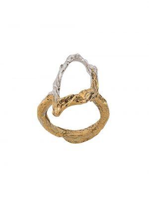 Złoty pierścionek pozłacany Loveness Lee