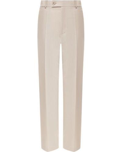 Свободные брюки со стрелками с драпировкой Helmut Lang