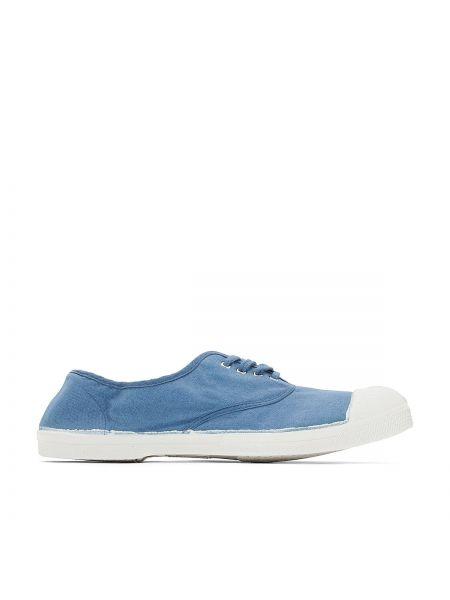 Синие кроссовки на шнуровке Bensimon