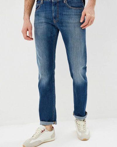 Синие прямые джинсы Emporio Armani