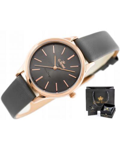 Klasyczny czarny zegarek skórzany Gino Rossi