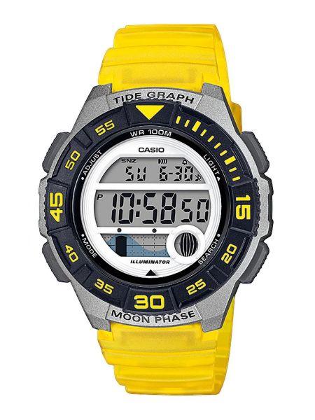 Zegarek srebrny - żółty Casio