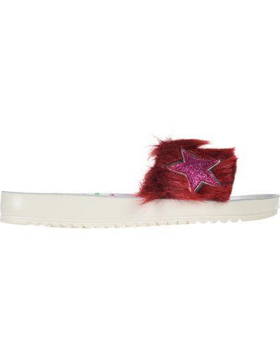 Шлепанцы кожаный красный Naturino