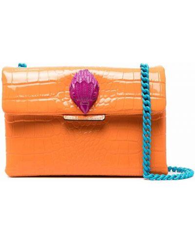 Pomarańczowa torba na ramię skórzana Kurt Geiger London