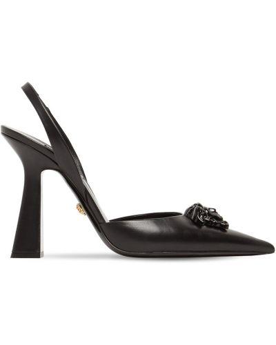 Лодочки на шпильке - черные Versace