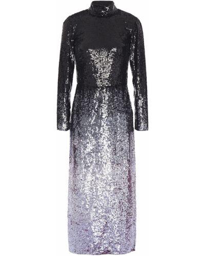 Фиолетовое открытое платье миди с открытой спиной Temperley London