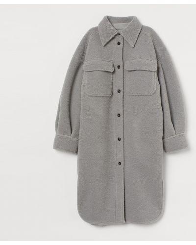 Пальто из овчины - серое H&m