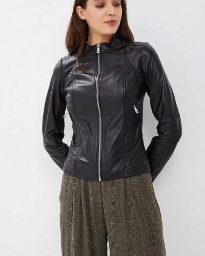 Кожаная куртка осенняя La Reine Blanche