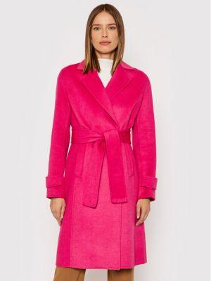 Płaszcz wełniany - różowy Liu Jo