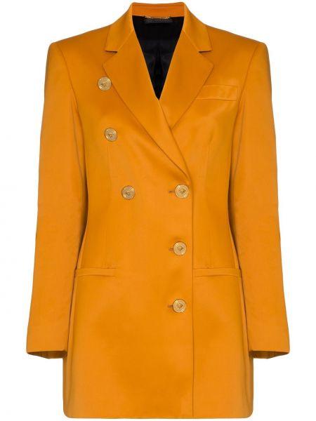 Пиджак двубортный с карманами с воротником Versace