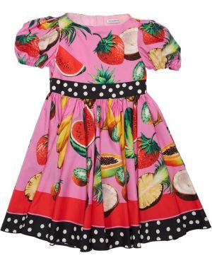 Ажурное платье с декольте из поплина Dolce & Gabbana