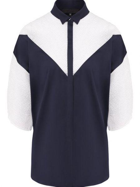 Хлопковая синяя рубашка Tegin