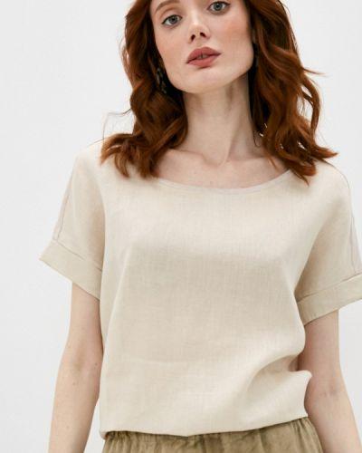 Бежевая блузка с короткими рукавами Gerard Darel