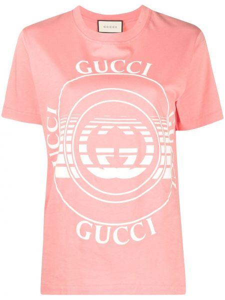 Bawełna prosto biały koszula z krótkim rękawem krótkie rękawy Gucci