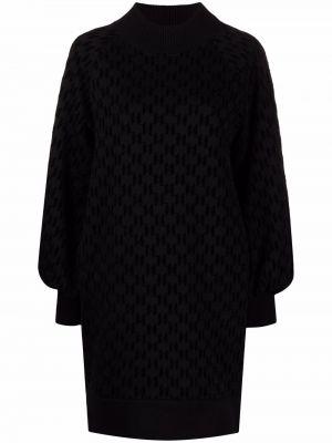 Платье макси длинное - черное Karl Lagerfeld