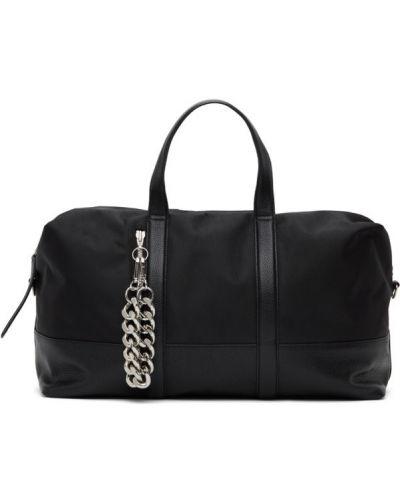 Парусиновая серебряная сумка на плечо с заплатками двусторонняя Kara