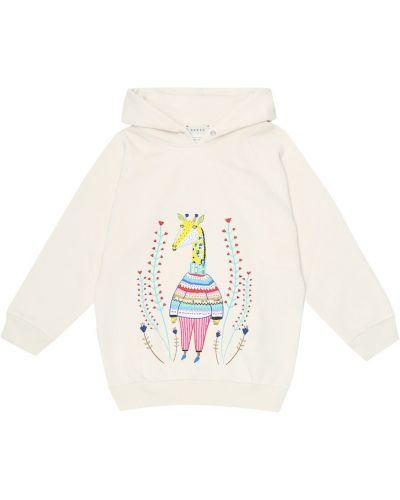 Bawełna bawełna biały bluza z kapturem Gucci Kids