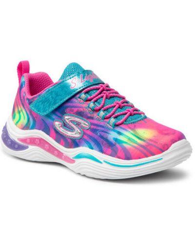 Różowe sneakersy Skechers