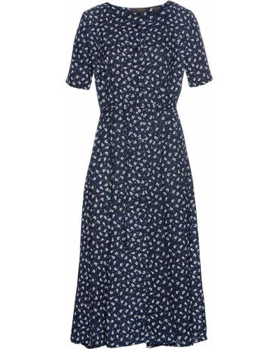 Темно-синее платье свободного кроя Bonprix