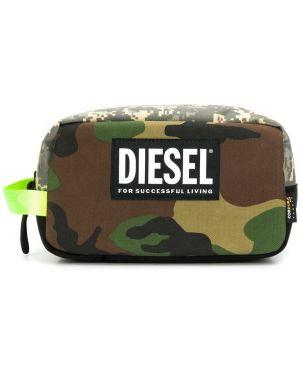 Клатч камуфляжный с заплатками Diesel