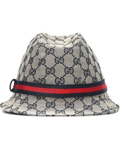 Niebieski kapelusz żakard Gucci Kids