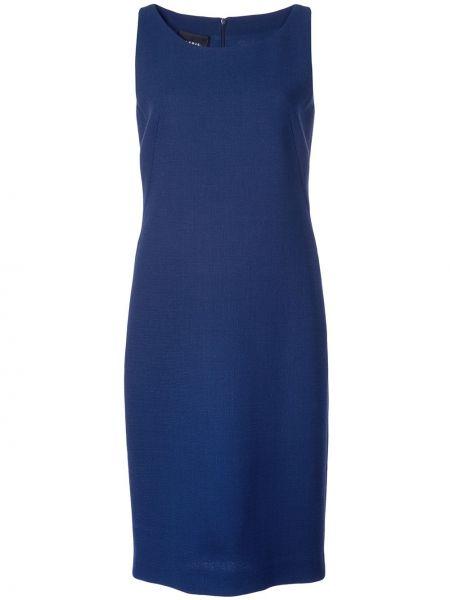 Niebieska sukienka z wiskozy bez rękawów Akris