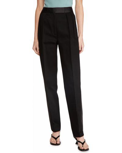 Czarne spodnie z wysokim stanem bawełniane Alexander Wang