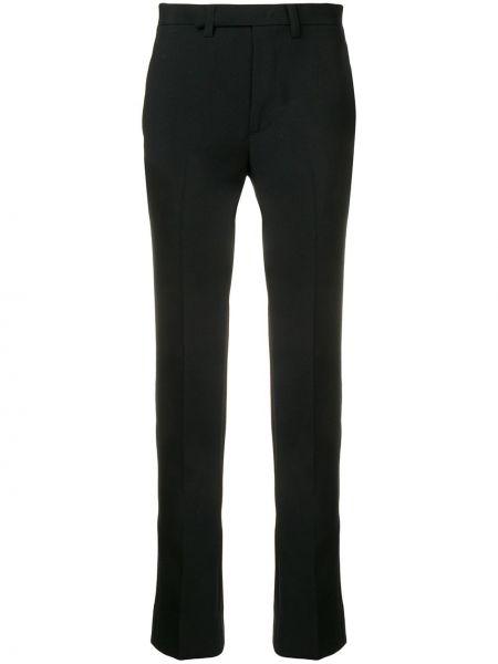 Czarne spodnie wełniane z paskiem Facetasm