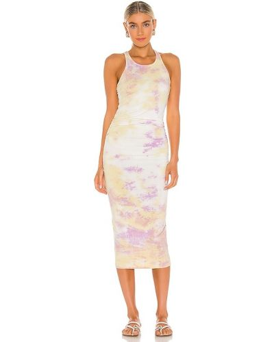 Трикотажное платье миди - желтое Michael Stars