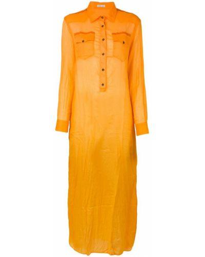Платье рубашка - оранжевое Tomas Maier