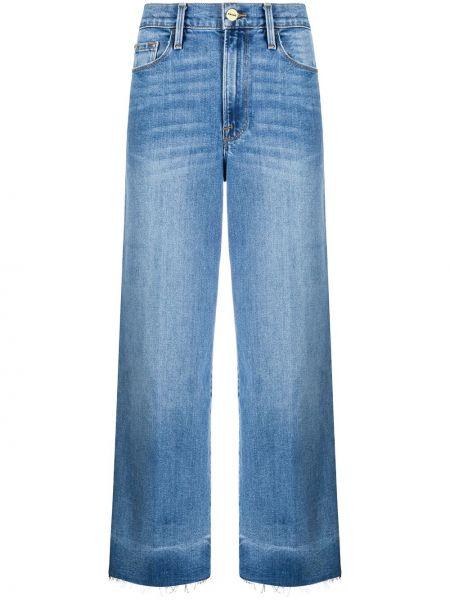Синие с завышенной талией широкие джинсы свободного кроя на молнии Frame